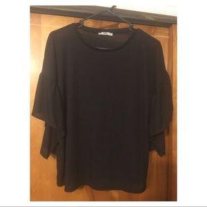 Zara Collection Black Top Size L